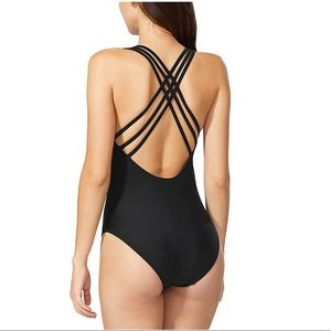 Swim - Criss cross back one piece swimsuit - large